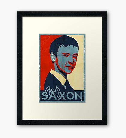 Saxon for PM Framed Print