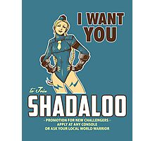 Shadaloo Wants YOU! Photographic Print