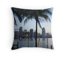 The City of Sun and Fun, Miami Throw Pillow