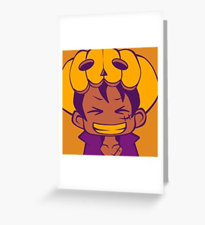 Halloween - Luffy Greeting Card