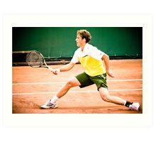Roberto Carballes Baena @ Roland Garros Art Print