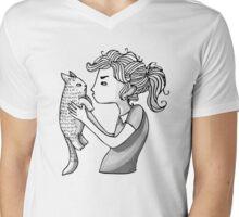 Grumpies Mens V-Neck T-Shirt