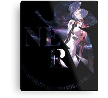 neon genesis evangelion rei ayanami anime manga shirt Metal Print