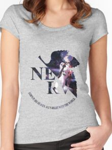 neon genesis evangelion rei ayanami anime manga shirt Women's Fitted Scoop T-Shirt
