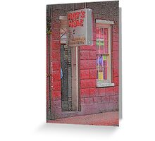 """New Orleans - Bourbon Street with """"Pencil"""" Effect Greeting Card"""