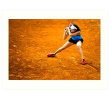 Agnieszka Radwańska @ Roland Garros Art Print