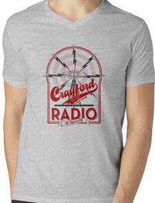Crayford Radio Mens V-Neck T-Shirt