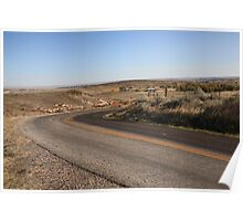 Wyoming Back Country Road Poster