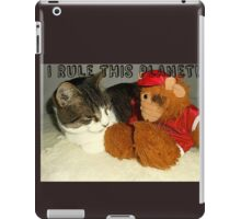 """I Rule This Planet"" Cat Vs Alf Puppet iPad Case/Skin"