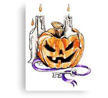 Spooky Pumpkin Canvas Print