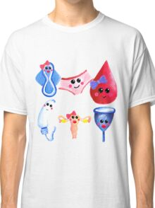 The cutest time of the month –  Gouache Classic T-Shirt