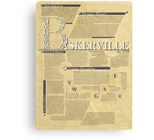 John Baskerville typography poster Canvas Print