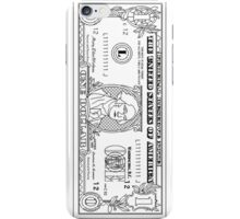 Black and White Dollar Bill iPhone Case/Skin