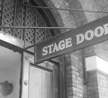 the stage door behind a west end theatre by Alice Thorpe