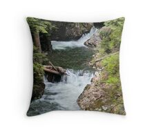 Franklin Falls, Denny Creek, Snoqualmie Forest Throw Pillow