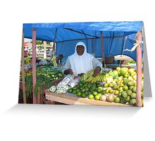 Fruits and Vegetables - Bourda Market Greeting Card