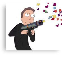 Rick and Morty-- Confetti Gun Canvas Print