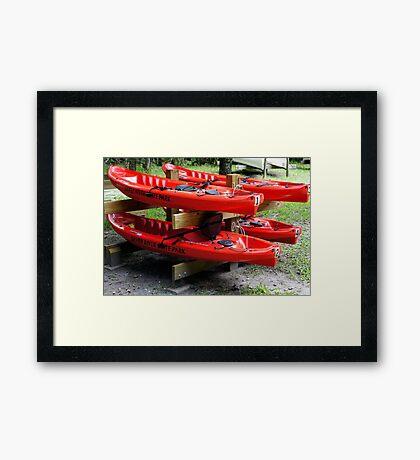 Silver River Kayaks Framed Print