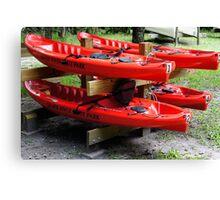 Silver River Kayaks Canvas Print