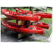 Silver River Kayaks Poster