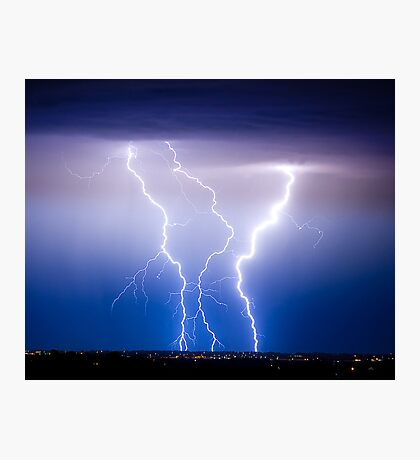 Triple Lightning Bolts Photographic Print