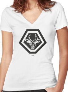 MNU Reaction Force Battalion  Women's Fitted V-Neck T-Shirt