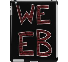 Red Binary Weeb Graphic iPad Case/Skin