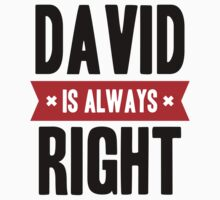 David is Always Right Kids Clothes