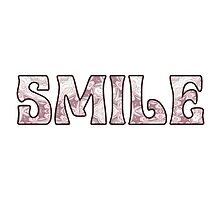 Smile Happy Pink and Mauve Marbled Background by Mercury McCutcheon
