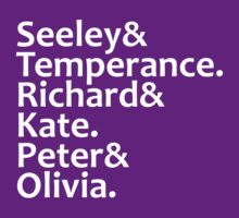 Seeley, Temperance, Richard, Kate, Peter, Olivia by Fiona Reeves