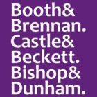 Booth, Brennan, Castle, Beckett, Bishop, Dunham by Fiona Reeves