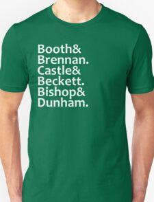 Booth, Brennan, Castle, Beckett, Bishop, Dunham Unisex T-Shirt