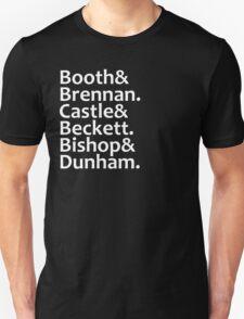Booth, Brennan, Castle, Beckett, Bishop, Dunham T-Shirt