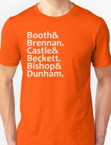 Booth, Brennan, Castle, Beckett, Bishop, Dunham T-Shirt