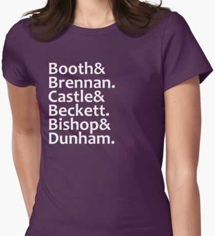 Booth, Brennan, Castle, Beckett, Bishop, Dunham Womens Fitted T-Shirt