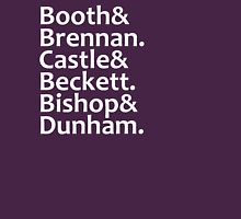 Booth, Brennan, Castle, Beckett, Bishop, Dunham Womens Fitted T-Shirt