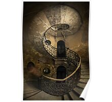 Old forgotten Staircase Poster
