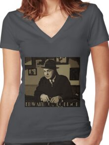 Edward G Robinson Women's Fitted V-Neck T-Shirt