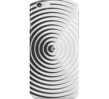 Spiky Circle Pattern - Black and White iPhone Case/Skin
