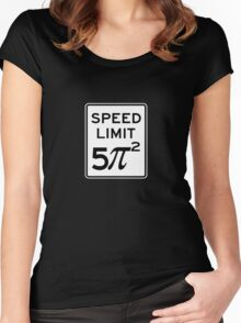 Speed Limit  5 Pi Squared Women's Fitted Scoop T-Shirt