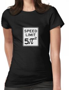 Speed Limit  5 Pi Squared Womens Fitted T-Shirt