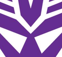 decepticon - purple Sticker