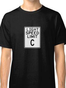 Light Speed Limit Sign Classic T-Shirt