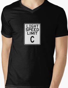 Light Speed Limit Sign Mens V-Neck T-Shirt