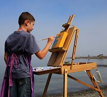 young artist en plein air by TerrillWelch