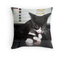 Keyboard Rhapsody Throw Pillow