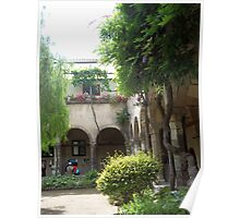 Kloisters Courtyard, Sorrento, Italy Poster