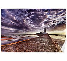 St Mary's Lighthouse HDR Poster