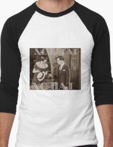 """No Bread No Hat"" Silent Film-era Buster Keaton Men's Baseball ¾ T-Shirt"