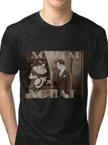 """No Bread No Hat"" Silent Film-era Buster Keaton Tri-blend T-Shirt"